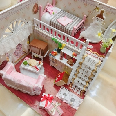 Super Cute Miniature Wood Doll House