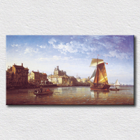 Home decoration art of seascape oil painting canvas scenery prints art picture on the lving room wall16''x30''