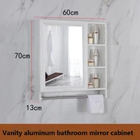 Free shipping U BEST italian bathroom vanity aluminum bathroom cabinet mirror custom colour and size
