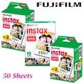 50 hoja de película para fujifilm instantánea fujifilm fuji instax mini 8 mini 7 s 25 50 s 90 cámara fuji instax borde blanco foto de la película de papel