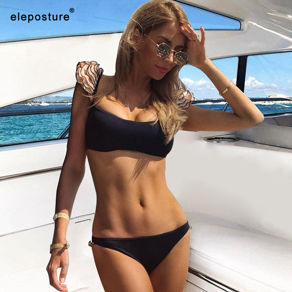 <font><b>2019</b></font> <font><b>Sexy</b></font> Ruffle <font><b>Swimwear</b></font> <font><b>Women</b></font> Bikini Flowers <font><b>One</b></font> <font><b>Piece</b></font> <font><b>Swimsuit</b></font> Push Up Monokini Bathing Suits Summer Beach Wear Swimming Suit image