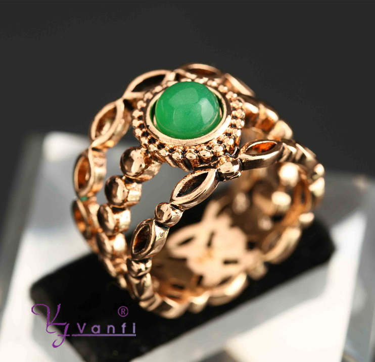 Antique Gold Rings for Women Vintage Fine Jewelry Black Red Blue Resin Stone Strass Bohemian Turkish Ring Ethnic Fashion Gift