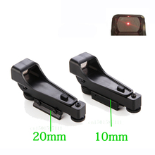 Tactical Reflex sight Red Dot Sight Scope Wide View Airgun 10 or 20mm Weaver Rail Mounts1x20x30 Riflescope Airsoft Free Shipping