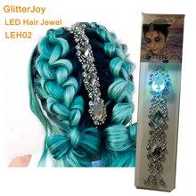 LEH02 1 шт. светодиодный Стикер Украшение для волос лучшие аксессуары для волос для фестиваля стикер для макияжа