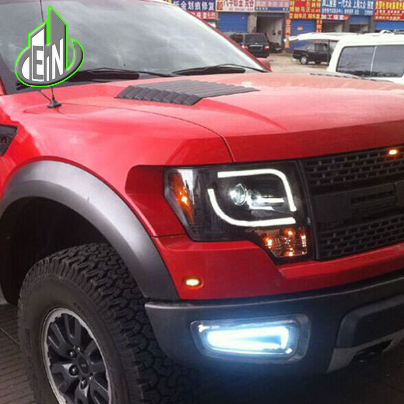 Auto part Style LED Head Lamp for Ford raptor F 150 led headlights 09 11 for F150 drl H7 hid Bi Xenon Lens angel eye low beam