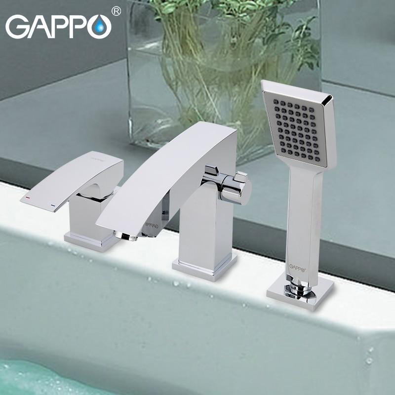 GAPPO bathtub faucet mixer bathroom waterfall bathtub faucet deck mounted mixer bath tap rainfall bathroom faucets
