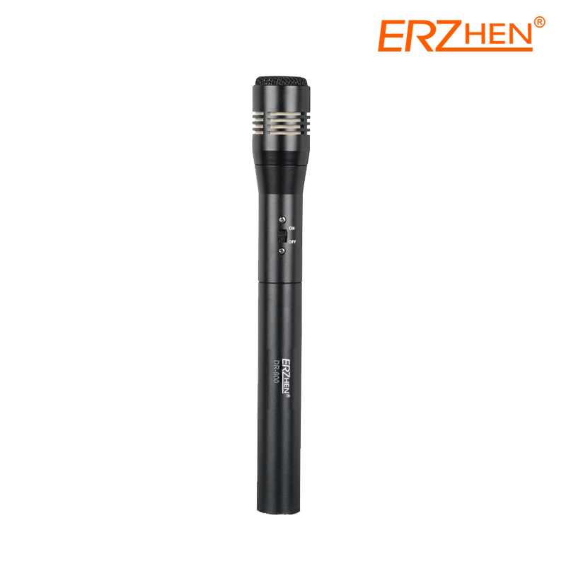 DR-900 High Quality Professional Condenser Sound Recording Microphone with Shock Mount for Radio Braodcasting Singing Black kaish black p90 high power sound neck
