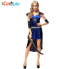 Greek goddess ancient warrior European and American game uniforms Halloween female pirate costume new Holiday Funn