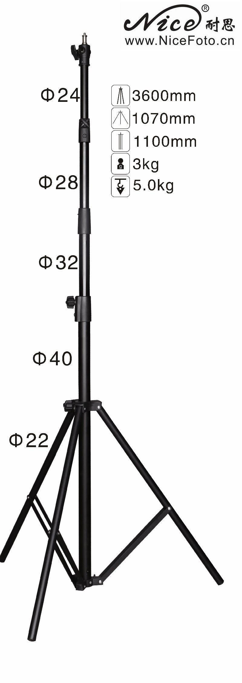 Adearstudio Air cushion light stand flash light lamp holder 360cm ls-360at no00d jb300 pro premium grade light stand 2 8m stand with air cushion professional air cushioned light stand no00dc