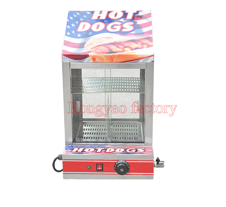 RY FY 1P E electric stainless hot dog warming cabinet food warmer showcase display food warm equipment No Glass(self prepare)