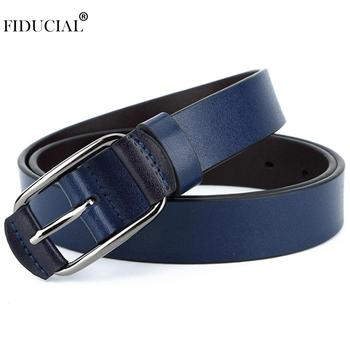 aa623ab56e0 FIDUCIAL Real Genuine Leather Cover Buckle Metal Belt for Women Jeans  Casual Styles 28mm Wide Belts Clothing Accessories FCO017
