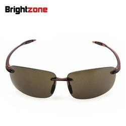 Lightzone peso ligero UV400 altos archivos TR-90 lente de Nylon para hombres y mujeres conductor gafas de sol de pesca antivertigo