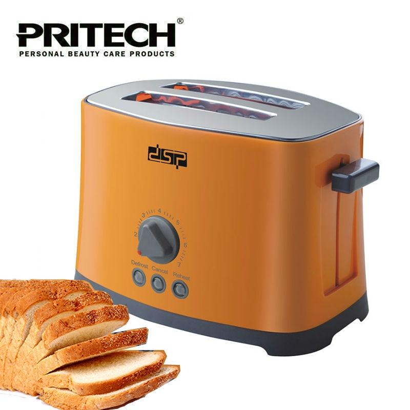 PRITECH Kitchen Appliances 780W 2 Slice Electric Popup Bread Sandwich Toaster Machine 7 Temperature Levels 220-240V kitchenaid kmt221 2 slice toaster 5kmt221eer тостер на 2 хлебца empire red
