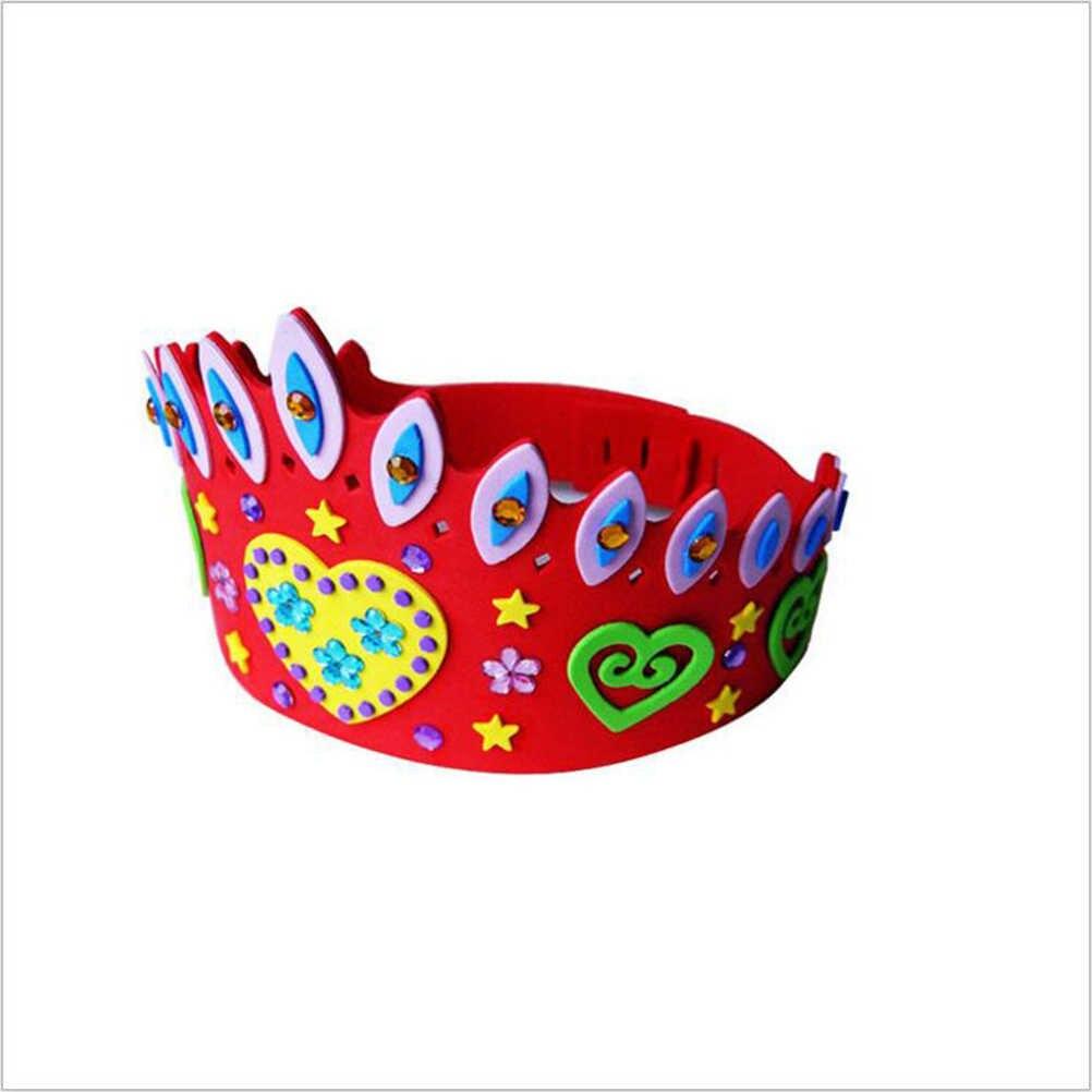 1 шт. EVA пена поздравительная открытка шапки корона для детей самоклеющиеся DIY ручной работы 3D Eva корона наборы для ремесла