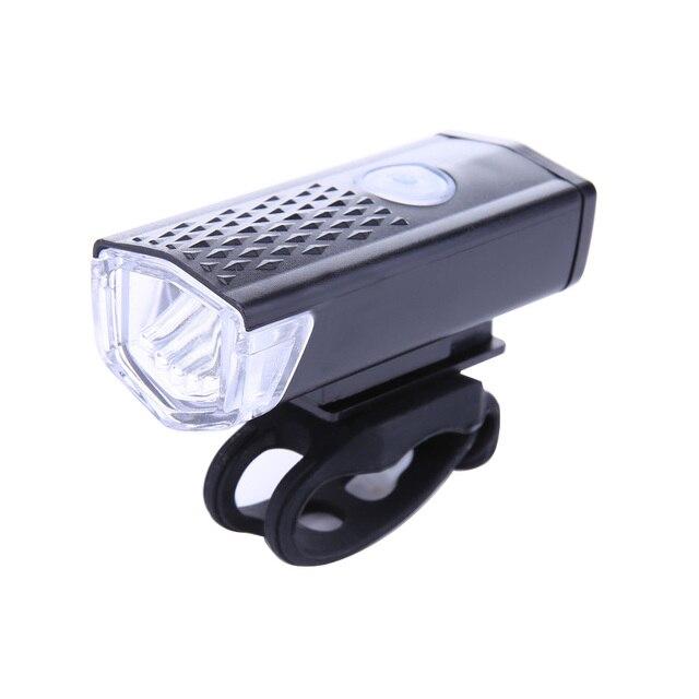 Lumière de bicyclette 300LM LED très brillante phare de vélo 3 Mode USB Rechargeable vélo avant lumières lampe torche étanche lampe de poche
