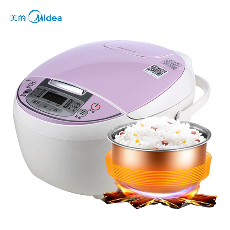Midea MB-FS4018D Intelligent Rice Cooker Pot 4L Home Reservation 3-6 People Rice Cooker High Quality Kitchen Appliances smart mini electric rice cooker small household intelligent reheating rice cookers kitchen pot 3l for 1 2 3 4 people eu us plug