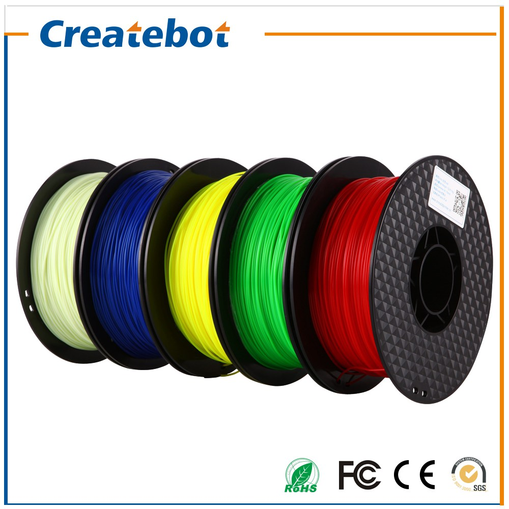 ФОТО Free Shipping 4 Rolls one Package Createbot PLA Filament 1.75mm/3mm High Quality Low Tolerance