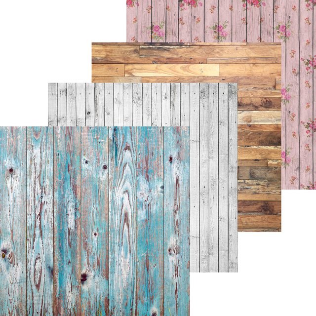 Exceptional Wood Backdrops Photography Props Photo Background Vinyl Photography Baby  Shower Backdrop GY 005 2x2ft 4pcs