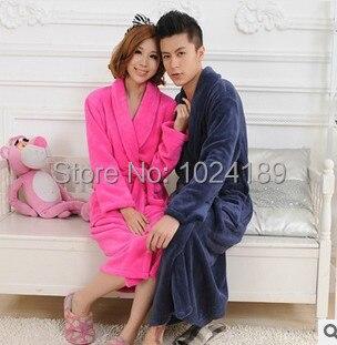 2015 new arrive bath robe men  coral bathrobes women warm winter brand ladies bathrobe nightgowns lover's sleepwear S4