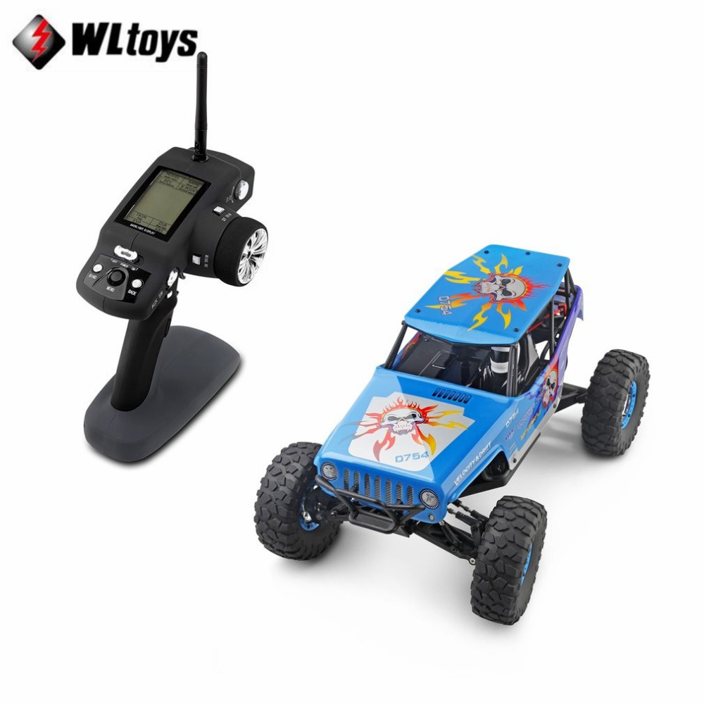 Wltoys 10428-A 1/10 2.4G 4WD Electric Rock Climbing Crawler RC car Desert Truck Off-Road Buggy Brushed Vehicle RTR fi hongnor ofna x3e rtr 1 8 scale rc dune buggy cars electric off road w tenshock motor free shipping