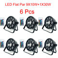 6 Pcs Good Quality LED Flat Par 9X10W+1X30W Wireless Remote Control Wash 7 Dmx Par Light 120W American DJ Par RGB 3in1 Led Par