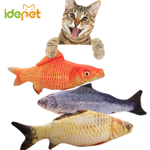 1PC Pet Cat Toy Fish Shape Toys For Cat Favor Fish Cat Supplies Mint Stuffed Scratch Board Scratching for Pet ball Product 35