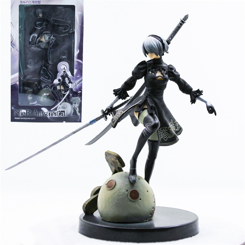 цены  New Type Game NieR Automata YoRHa No. 2 Type B 2B Collection Model Toy Action Figure Model Doll Christmas Gift Brinquedos
