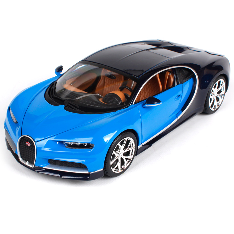 Bburago 1:18 2017 bugatti chiron blue red car diecast high level precious car toy model collecting car shape as gift 11040 100