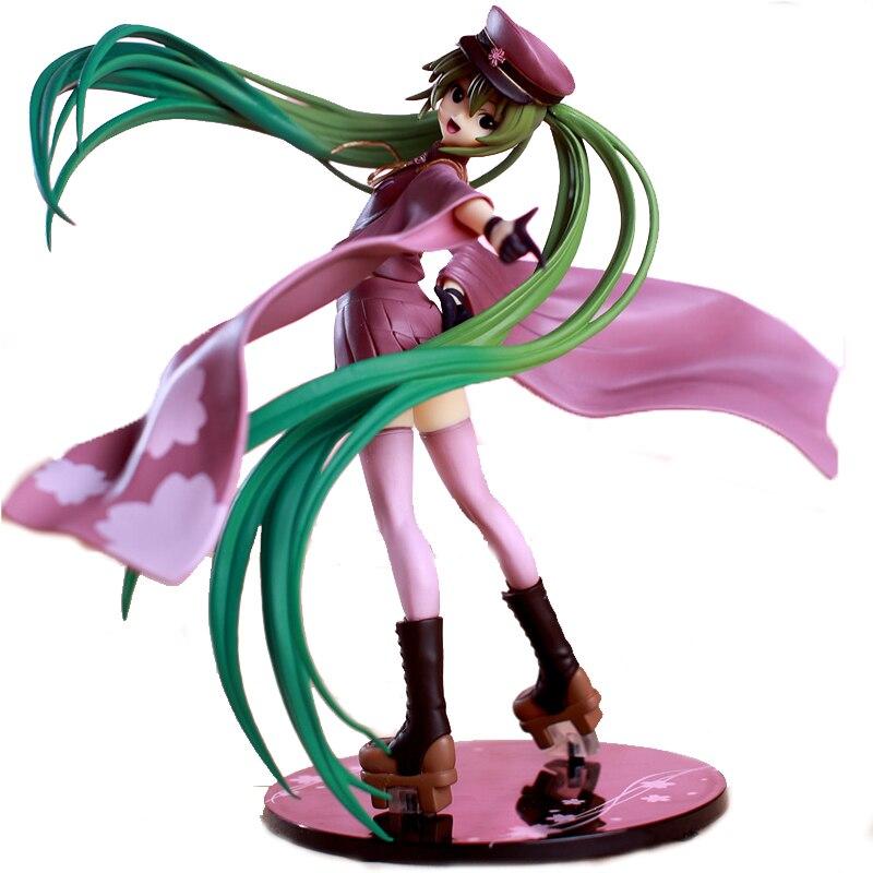 Japanese Anime Doll VOCALOID Hatsune Miku Senbon Zakura Ver PVC Action Figure Model Toy 20CM vocaloid anime akita neru yowane haku japanese rubber keychain