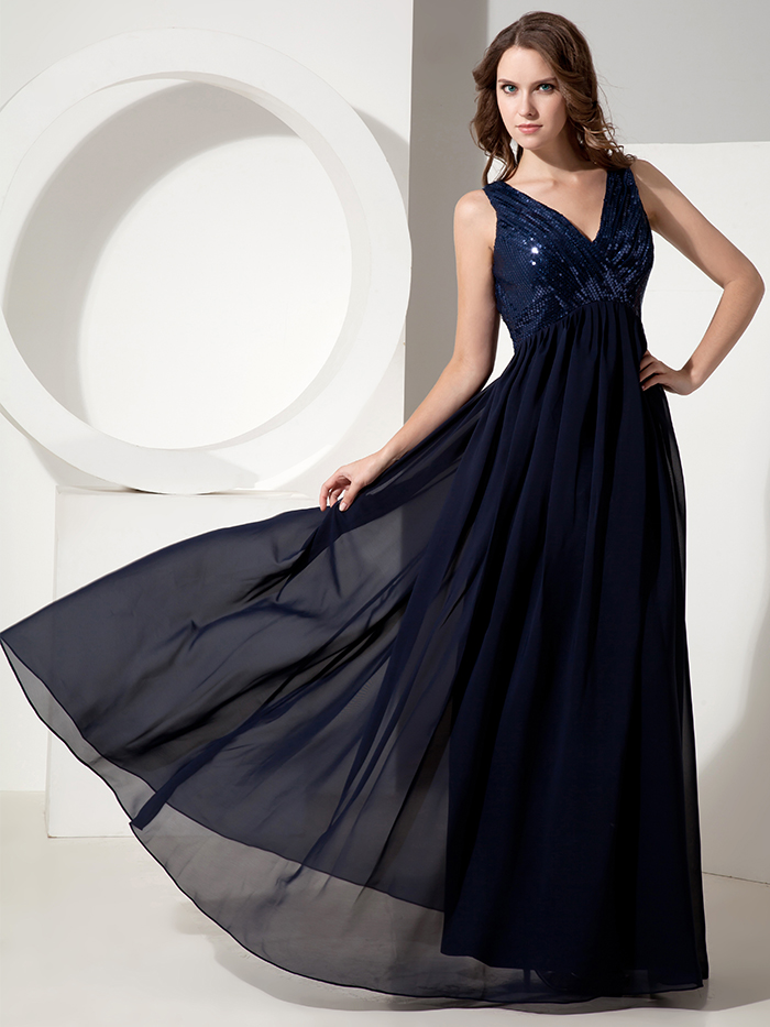 2016 Real Navy Blue Long Formal Maternity Bridesmaids Dresses ...