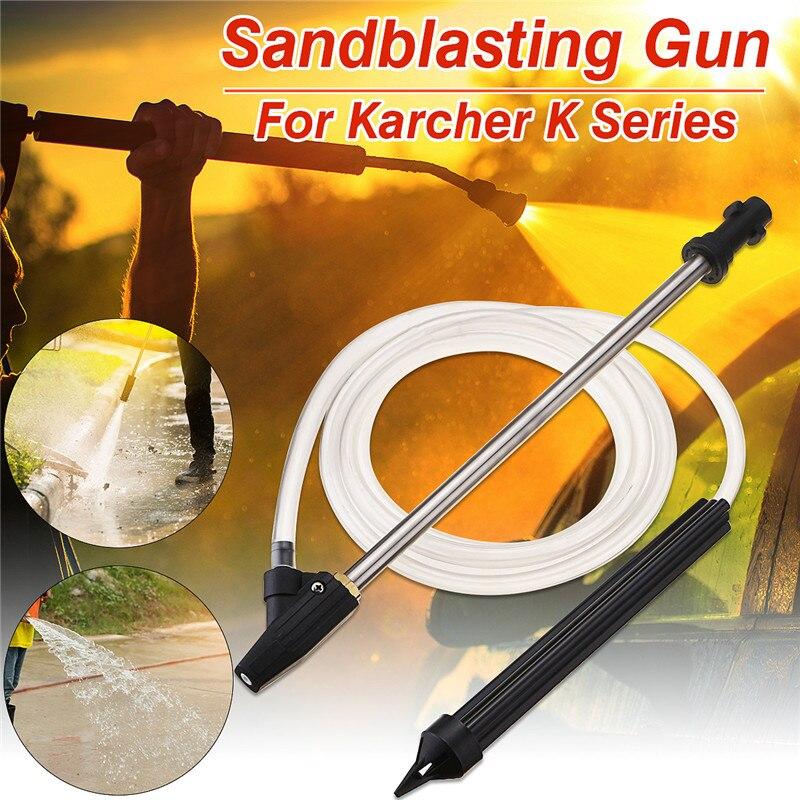 Portable Sable Blaster Humide Dynamitage Rondelle Sablage Kit Pour Karcher K Série Nettoyeur Haute Pression