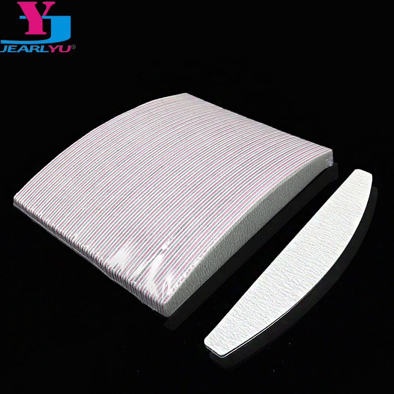 50Pcs Brand Nail Files 100/180 Manicure Buffing Buffer Professional Sanding Half Moon Salon Nail Art File Tools Beauty Wholesale