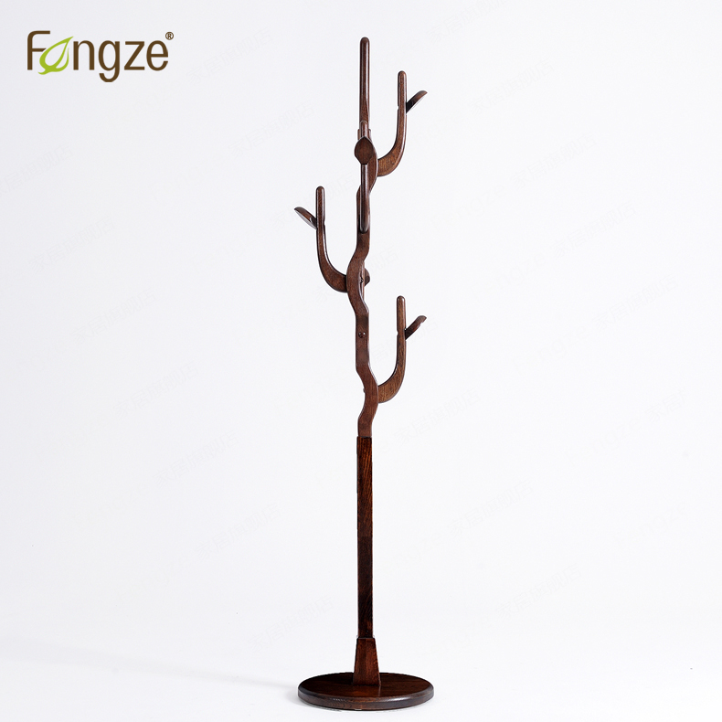 FengZe Home Furnishing FZ901 Modern Clothes Hanger Hats Rack Solid Wood coat rack Living Standing Hanger Holder trees fengze furnishing fz821 modern solid wood shoes storage multifunction solid wood flower rack standing plants display cabine