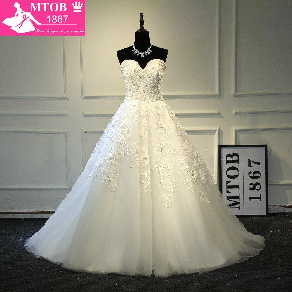 2018 уникальные новые свадебные платья без бретелек кружевные свадебные платья Robe De Mariage трапециевидные Свадебные платья Vestido De Noiva MTOB1735