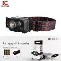 New Klarus HC1 R Headlight Dual color 3 LEDs Headlamp max 300 lumen White Red Head Lamp with Headband 3 AAA Alkaline Battery