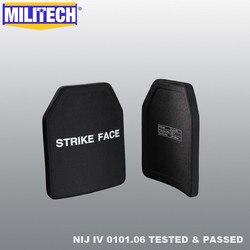 MILITECH Twee Stukken 2.7 kg/stk Alumina & PE NIJ IV Bulletproof Plaat Al2o3 NIJ 4 Stand Alone Ballistic Panel Met gratis Verzending