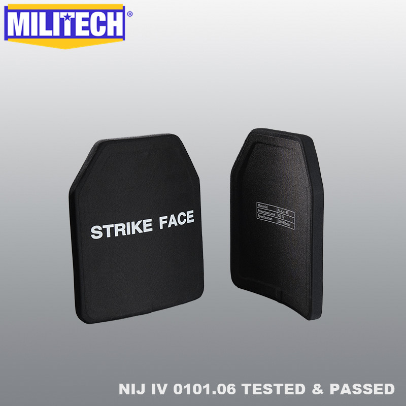 MILITECH Two Pieces 2.7KG/PC Alumina & PE NIJ IV Bulletproof Plate Al2o3 NIJ 4 Stand Alone Ballistic Panel With Free Shipping
