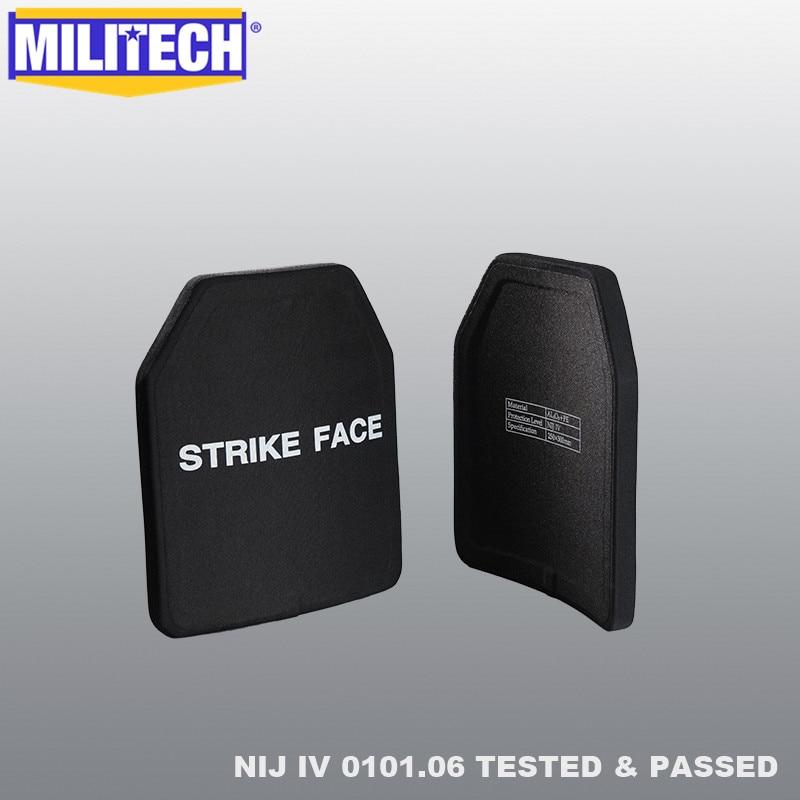 MILITECH Two Pieces 2.7KG/PC Alumina & PE NIJ IV Bulletproof Plate Al2o3 NIJ 4 Stand Alone Ballistic Panel With Free Shipping
