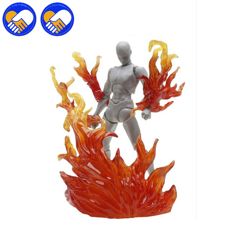 5 Colors Fire effect Model Accessories As SHF <font><b>BODY</b></font> KUN / CHAN <font><b>Body</b></font>-Chan <font><b>Body</b></font>-Kun PVC Action Figure Collectible Parts Toys image