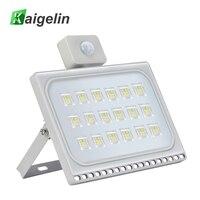 Kaigelin 100W PIR LED Motion Sensor Flood Light 220V Waterproof Construction Lamp LED Projector Spotlight For Outdoor Lighting