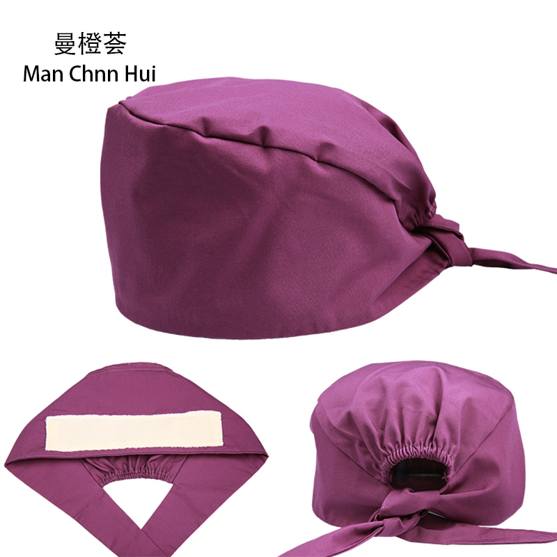 Cotton Printing Unisex Surgical Cap Doctor Nurse Hat Midwife Beauty Hat With Sweat Towel