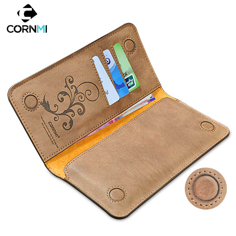 Universal Leather Pouch Case For iPhone 6s 7 Plus For Samsung S7 Edge S6 S5 For Xiaomi Huawei P9 LG G3 G5 Wallet 6.0 Inch Cover
