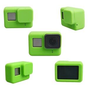 Image 5 - Lbkafa移動プロアクセサリー8色カメラケース保護シリコンケース皮膚 + レンズキャップカバー移動プロヒーロー5ヒーロー6カメラ