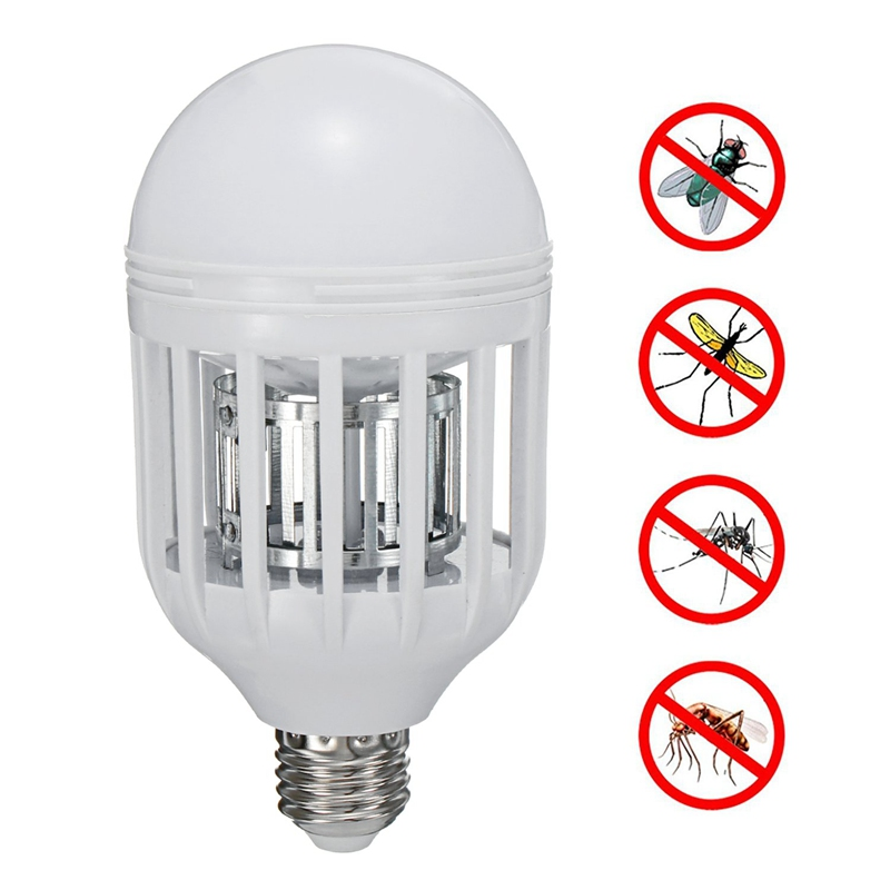 Anti Mosquito Killer Lamp 15W 24 LED Lamp Bulb E27 LED Light Bulb 220V Insect Killer Lamp 180 Degree Beam Angle 6500K 1000LM
