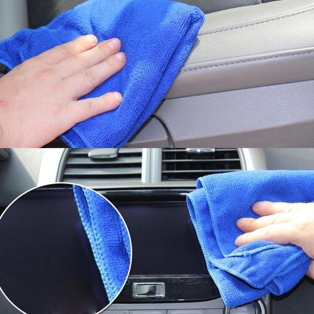 top sale  HQ 22*22cm Microfiber Face Hair Clean Car polishing Streak-Free Cleaning Towel cloth retail/wholesale