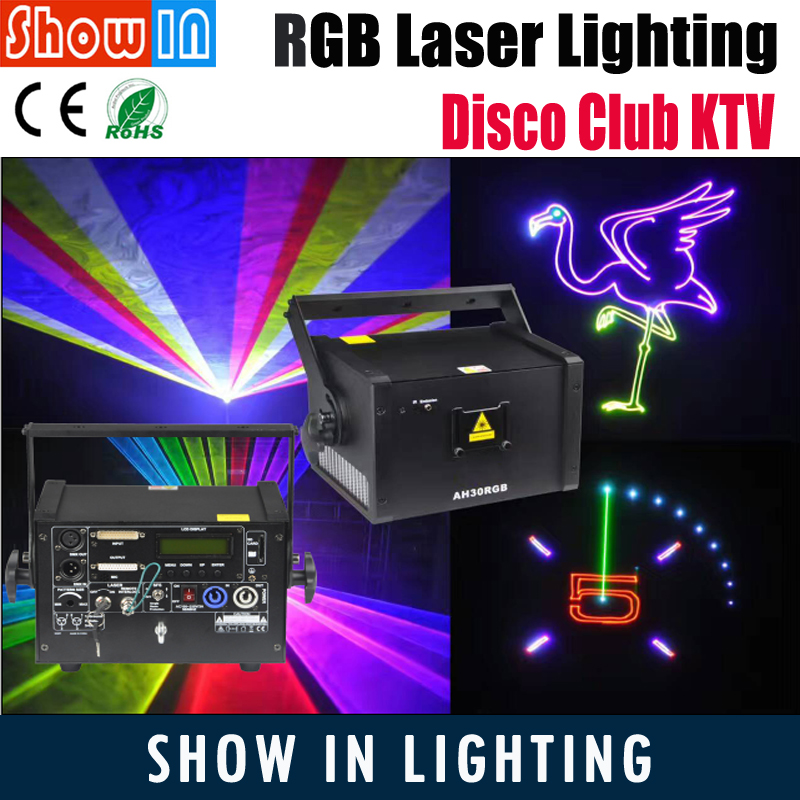 3W RGB LED Laser Animation Light DMX DJ Disco Club KTV Show Professional Stage Effect Lighting Projector Free Shipping