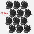 HOT Newest 12 Pcs Black Plastic Mini Hairpin 6 Claws Hair Clip Clamp Hair Accessories for Baby Girl Lady