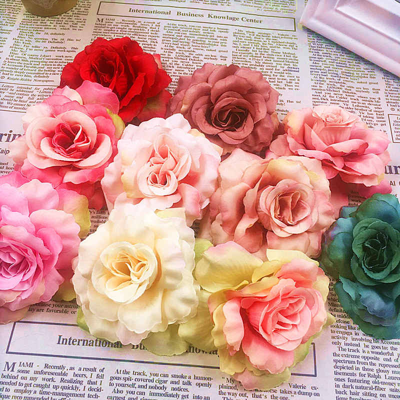 5pcs (8 cm/a) simulation of artificial silk silk cloth head/wedding brooches rose hat wreathe DIY collage of gift items