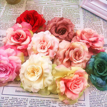 5pcs (8 cm/a) simulation of artificial silk cloth head/wedding brooches rose hat wreathe DIY collage gift items
