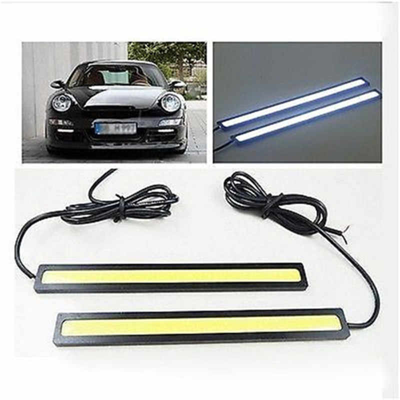 Car Accessories 12V White LED Daytime Running Super Bright COB Light Driving Lamp For Toyota BMW Honda Skoda VW Ford Audi Buick